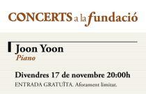 El pianista coreà Joon Yoon protagonitza la pròxima actuació de Concerts a la Fundació