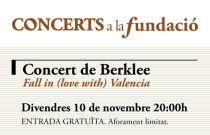 Alumnos de Berklee ofrecen un concierto el próximo 10 de noviembre dentro del ciclo Concerts a la Fundació