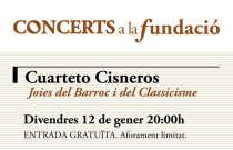 El Cuarteto Cisneros protagoniza la próxima actuación de Concerts a la Fundació