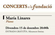 La joven pianista valenciana María Linares protagoniza la próxima actuación de Concerts a la Fundació