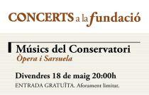 Concerts a la Fundació: Òpera i Sarsuela