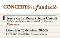Irene de la Rosa y Toni Cotolí traen el baile y la guitarra flamenca a Concerts a la Fundació