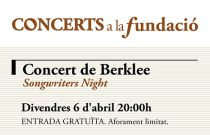 Concert de Berklee. Songwriters Night