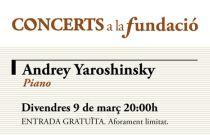 El pianista Andrey Yaroshinsky interpretará a Chopin y Scriabin en Concerts a la Fundació