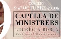 Concierto Lucrècia Borja. Capella de Ministrers