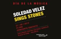 Concierto de Soledad Vélez con versiones de The Rolling Stones en el Día de la Música