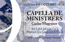 Fundació Bancaixa ofereix un concert gratuït de Capella de Ministrers amb motiu de la celebració del 9 d'octubre
