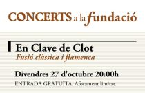 La fusión entre música clásica y flamenco de En Clave de Clot protagoniza el próximo concierto de Concerts a la Fundació