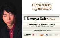 El pianista japonés Kazuya Saito, próxima actuación del ciclo Concerts a la Fundació