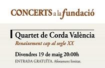 El Cuarteto de Cuerda Valencia ofrece una actuación en Concerts a la Fundació