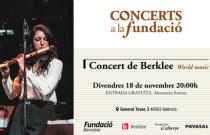 Músicos de Berklee College of Music en Valencia interpretan músicas del mundo en Concerts a la Fundació