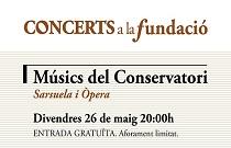 Alumnes del Conservatori Superior de Música Joaquín Rodrigo de València ofereixen una actuació d'òpera i sarsuela en Concerts a la Fundació