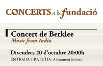 Concerts a la Fundació arranca el próximo viernes con una actuación de música india a cargo de músicos de Berklee