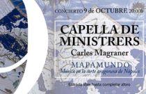 Fundación Bancaja ofrece un concierto gratuito de Capella de Ministrers con motivo de la celebración del 9 d'octubre