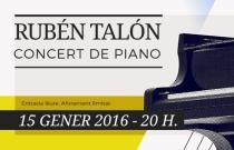 Concert de piano. Rubén Talón