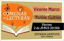El actor Tonino Guitián y el escritor Vicente Marco ofrecen un espectáculo de lecturas teatralizadas en Fundación Bancaja