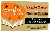 L'actor Tonino Guitián i l'escriptor Vicente Marco ofereixen un espectacle de lectures teatralitzades en Fundació Bancaixa