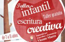 L'escriptor Vicente Marco impartix un taller infantil d'escriptura creativa en Fundació Bancaixa Segorbe