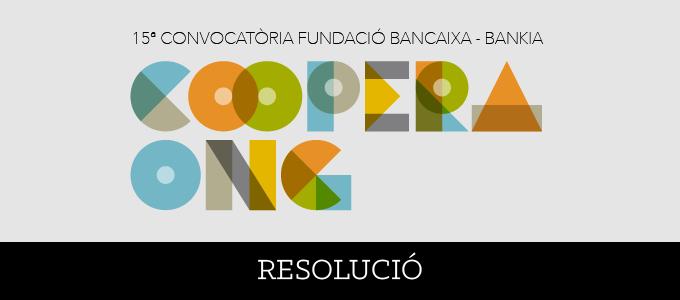 15 Convocatoria Fundación Bancaja Coopera ONG