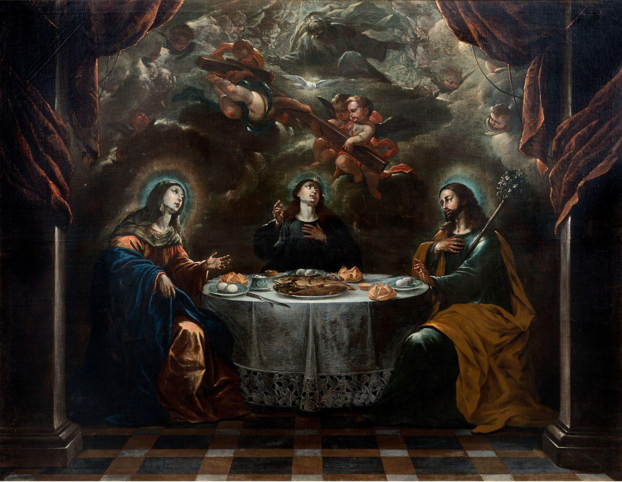 Cena de Jesús con sus padres