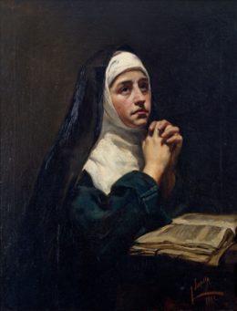 Monja en oración