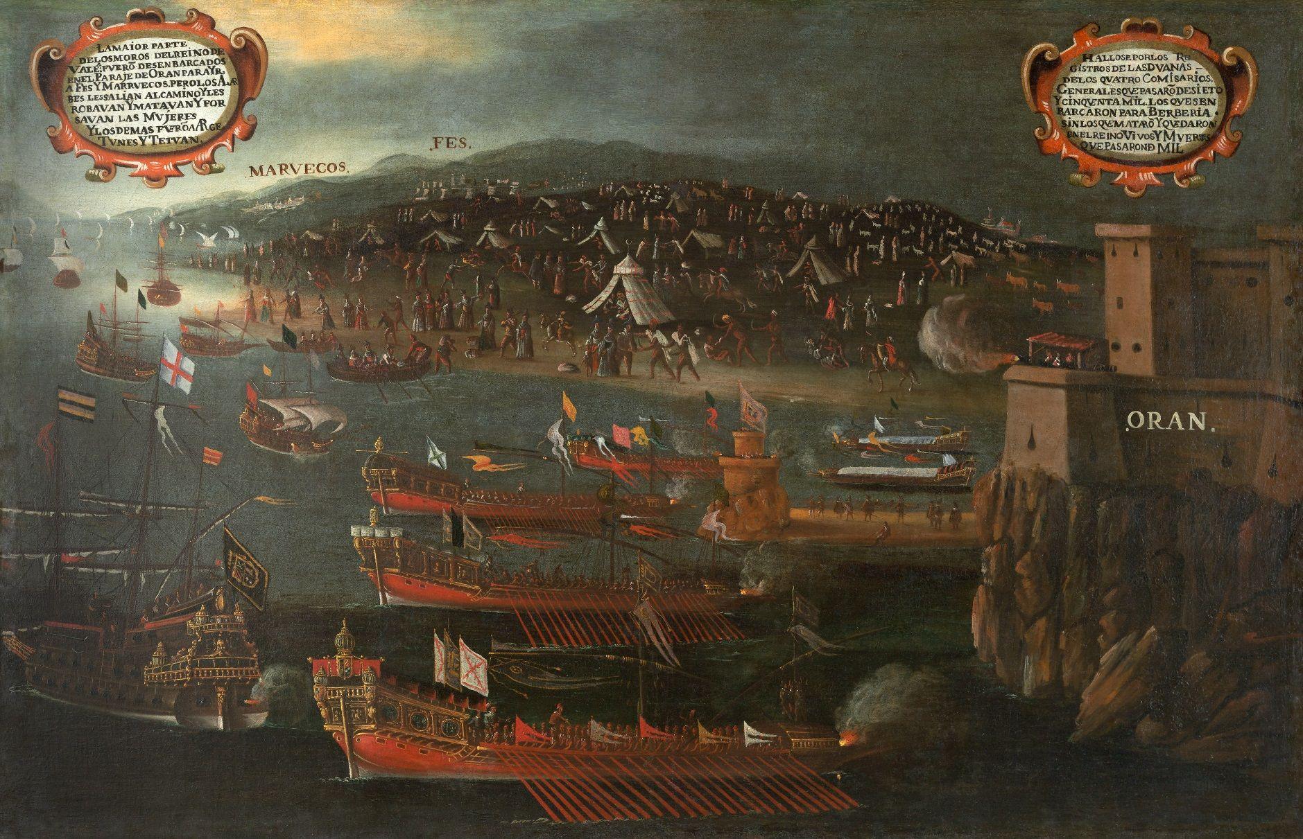 Desembarco de los moriscos en el puerto de Orán
